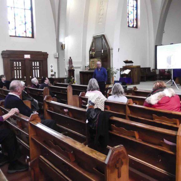 Conférence à l'église pour le 175e anniversaire de la paroisse